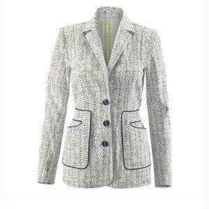 Carol Anderson  printed code blazer. Style 204